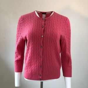 J.  Crew cable knit cardigan